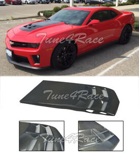 For 10-15 Camaro ZL1 Style LS LT RS SS Heat Extractor Hood Insert Carbon Fiber