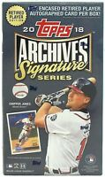 2018 Topps Archives Signature Series RETIRED PLAYER Edition MLB SEALED HOBBY BOX