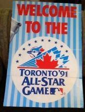 1991 MLB All-Star Game Corrugated Cardboard Sign Toronto Blue Jays Logo Canada