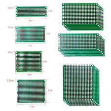 20 Universal Glasfaser PCB Lochraster Doppelseitig Leiterplatte Platine Prototyp