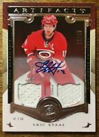 2015-16 UD Artifacts - ERIC STAAL #112 Carolina Hurricanes 17/25 Auto Jersey