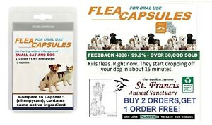 St. Francis Animal Rescue FAST FLEA Killer control SMALL dogs cats 16 doses