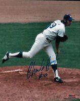 """Charlie Hough Signed 8X10 Photo """"#49"""" Autograph LA Dodgers Pitch Auto COA"""