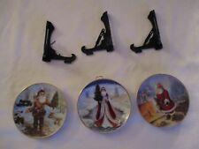 Set Of 3 Duncan Royale~American Pioneer/ Soda Pop/Kringle Santa Christmas PlateS