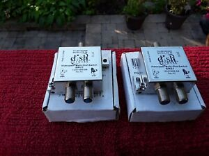 2 Way Coaxial Multi Dish Switch VideoPath SW21 Splitter.Satellite. Cable T.V.