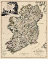 Kildare County Ireland - Beaufort 1882 - 23.00 x 29.69