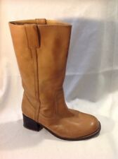 The Shoe Tailor Brown Mid Calf Leather Boots Size 7