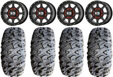 "Xs134 Addict 2 Black 15"" Wheels 31"" MotoClaw Tires Yamaha Viking Wolverine"