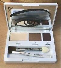 CLINIQUE ~ COLOUR SURGE EYE SHADOW TRIO ~ BROWNS ~ NEW/UNTESTED ~ DELUXE GWP~