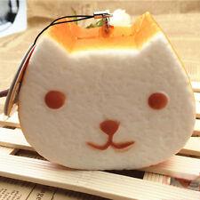 1PCS 10CM Jumbo Squishy Kapibarasan Toast Slow Rising Bread Cellphone Strap Q