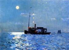 Isle of Shoals Moonlight : Frederick Childe Hassam : c1890 Art Print