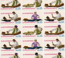 1977 US Skilled Hands for Independence #1717-1720 MNH Sheet of 50 13c Stamps