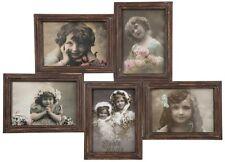 Cadre photo pêle-mêle famille 5 photos en fer brun