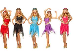 Haremsdame 1001 Nacht Kleid Kostüm Damen Bollywood Orient Prinzessin Bauchtanz
