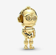 Genuine Silver 925 Stamped Amazingly Cute Star Wars C-3Po Droid C3Po Gold Charm