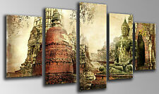 Cuadro Moderno Fotografico Buda Buddha base madera,145 x 62 cm