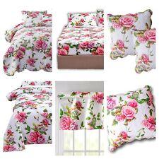 DaDa Bed in a Bag Romantic Roses Lovely Spring Bloom Pink Floral Bedspread Set