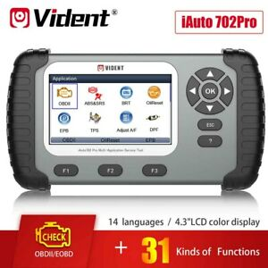 VIDENT iAuto 702 Pro ABS/SRS OBD2 Diagnostic Scanner for EPB/BRT/Oil light Reset
