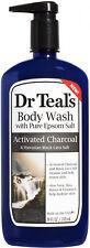 Dr Teals Activated Black Lava Charcoal Hawaiian Epson Salt Body Wash 24 fl oz