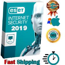 🔥Instant Delivery Antivirus ESET Internet Security 2019 1 PC 1 Year Windows MAC