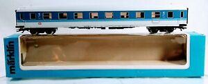 Marklin HO 4281 DB InterRegio 1st. Class. Passenger Car  Blue & White - Metal