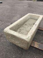 Reclaimed granite stone Trough Japanese garden water antique basin fountain