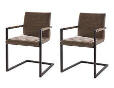 2 x Esszimmerstühle chocolate braun Freischwinger Schwingstuhl Stuhl ALESSIA NEU