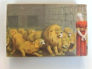 Vintage Tuco Puzzle Miniature Daniel in Lions Den Christian Art Biblical Story