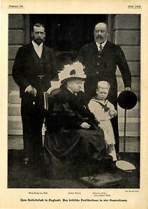 Britisches Herrscherhaus Königin Viktoria Herzog v.York Prinzen Südafrika...1899
