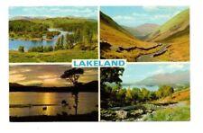 Cumbria - Lakeland - Multiview Postcard Franked 1970