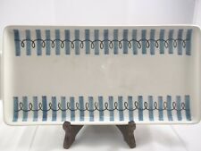 VILLEROY & BOCH METTLACH TRAY mid century blue and black accents Set of 2