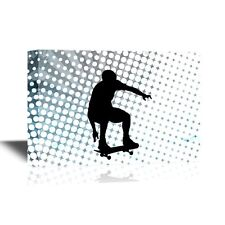 wall26 - Extreme Sport Canvas Wall Art - Young Man on Skateboard - 16x24 inches