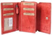 Akzent Damen Geldbörse Leder 14 x 9 cm Rot Portemonnaie RFID X3000113005