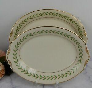 "Set of 12"" and 14"" Platters Syracuse China Old Ivory USA Greenwood"