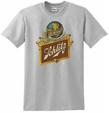 Schlitz Beer T-shirt. Ash,Khaki,White,Yellow Small - XXXL.Free Ship to USA