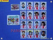 Panini★WM 1986 WorldCup WC 86★Team Paraguay komplett / Paraguay complete set