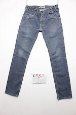 Levi's 513 skinny leg boyfriend jeans usato (Cod.E832) Tg 45 W31 L32