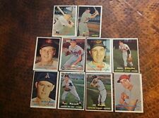 ( 10 ). 1957 Topps Baseball Cards, overall excellent, all 4th Series, no dupes