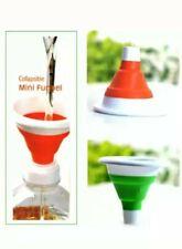 Durable Silicone Collapsible Funnel Kitchen Liquid Transfer Folding Mini Hopper