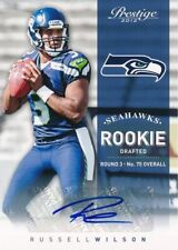 Russell Wilson SEAHAWKS 2012 Panini Prestige Autograph Rookie Card rC 328/499