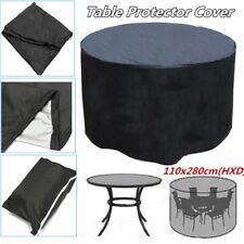 110inch Round Table Cover Tablecloth Waterproof Garden Outdoor Protector