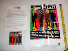 The Cash Box Kings - Black Toppin' 2013 Blind Pig CD/Concert Poster/Promo Letter