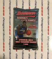 2003-04 Bowman Rookies Stars HOBBY Pack (LeBron James Gold Chrome Refractor RC)?