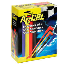 Accel 4040 Universal 8mm Yellow Spark Plug Lead / Wire Set Straight Boots