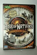 RISE OF NATIONS THRONES & PATRIOTS USATO BUONO PC CDROM VER ITALIANA GD1 43230