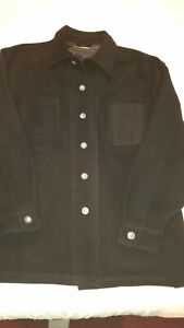 Norm Thompson Men's Jacket  XL Wool/Nylon/Cashmere Button Front Shirt Style