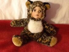 "8"" LEOPARD DOLL WITH CHINA FACE"
