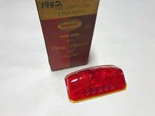 1942 PLYMOUTH NOS MOPAR GLASS TAIL LIGHT LENS 42 - 938954