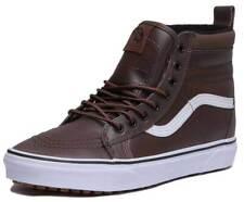 Vans SK8 HI MTE Men Leather Chocolate True White Hi Top Trainers US Size 9 Men