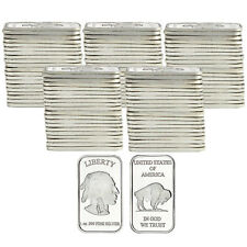 American Buffalo 1oz .999 Fine Silver Bar by SilverTowne LOT OF 100